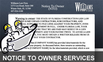 legal NTO notice to owner service