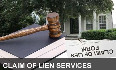 claim of lien service